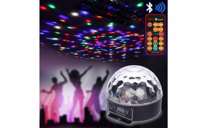 Glob disco cu lumini LED RBG bluetooth