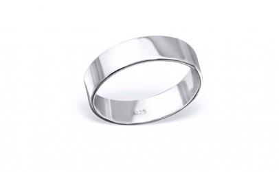 Inel argint 925 rodiat lat model