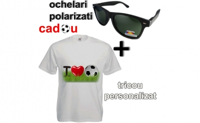 tricou personalizat +ochelari de soare