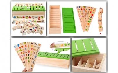 Joc asociere si sortare - 88 piese lemn
