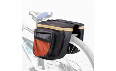 Geanta dubla pentru portbagaj bicicleta