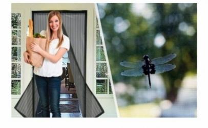 Set 2 perdele anti-insecte cu magnet