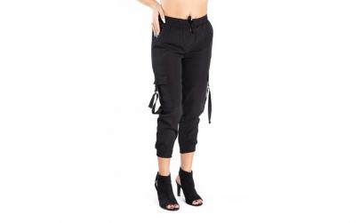 Pantaloni Dama Cargo Negru L