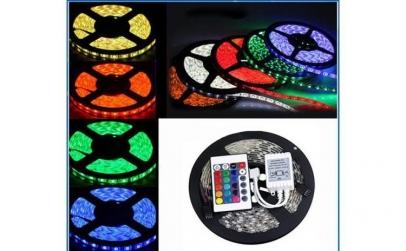 Banda 5m RGB LED cu telecomanda