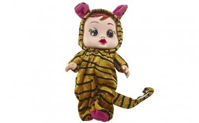Papusa bebelus tigru cu suzeta si sunete