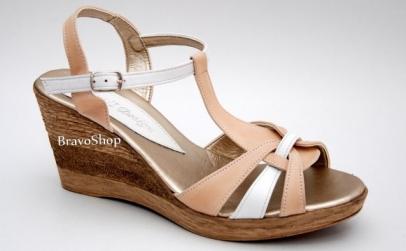 Sandale cu platforma din piele naturala