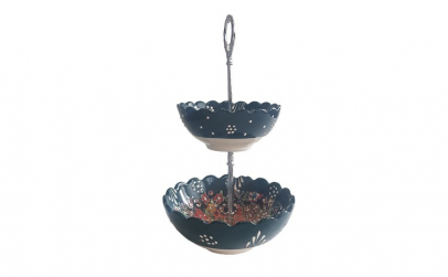 Bol ceramica handmade stil turcesc supra