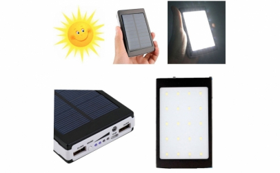 Baterie externa solara - 20000 mAh