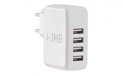 Incarcator USB alb 4 porturi jst