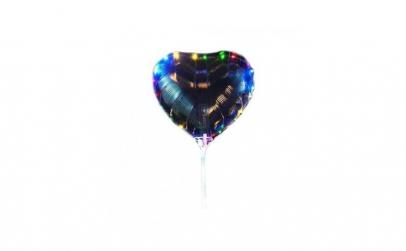 Balon LED in forma de inima, multicolor