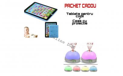Tableta pentru copii + Ceas cu proiectie