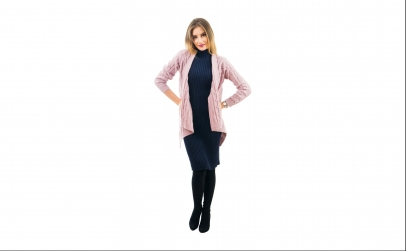 Cardigan Mohair Simple roz pal