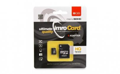 Card memorie IMRO microSD 8GB, Clasa 10