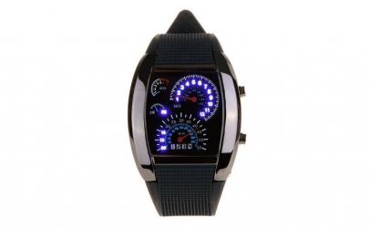 Ceas de mana LED, negru, model sport ,