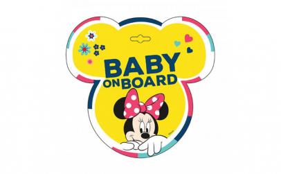 Semn de avertizare Baby on Board Minnie