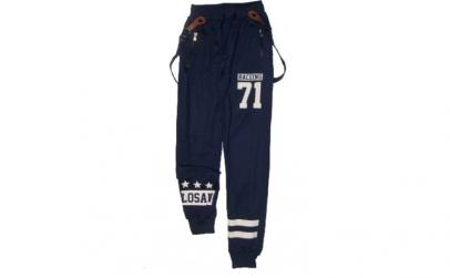 Pantaloni bumbac cu bretele,  TipyKid,