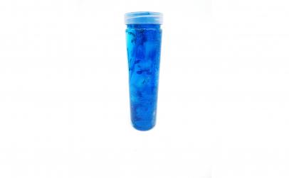 Slime la tub cu gelatina albastra