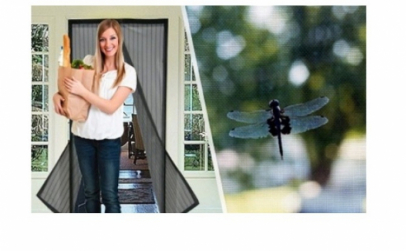 Set 3 perdele anti-insecte