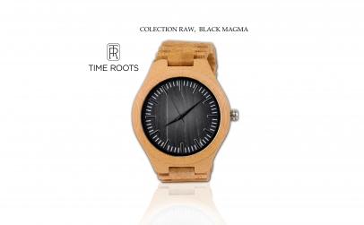 Ceas din lemn de bambus Time Roots