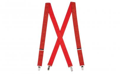 Bretele Suspenders rosu cu sclipici,VIVO