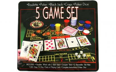 Joc 5 in 1 Ruleta, Poker, Black Jack
