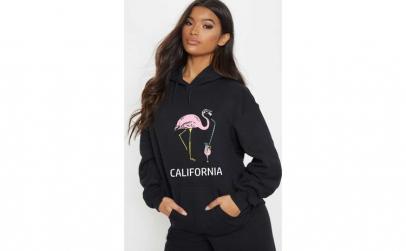 Hanorac dama negru - California