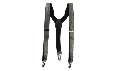 Bretele Suspenders negru argintiu,VIVO