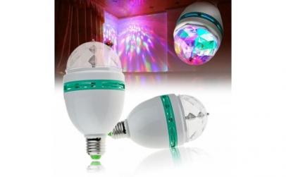 Bec rotativ cu LED-uri multicolore
