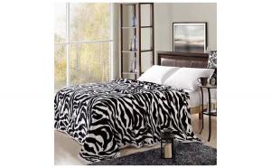 Patura moale Cocolino - pat dublu - 200 x 230cm - model zebra