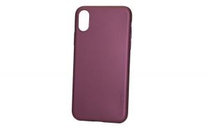 Husa protectie, Silicon, Apple iPhone XR, Visiniu / Rosu inchis