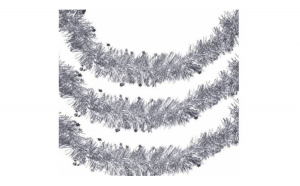 Ghirlanda de Craciun argintie 3m