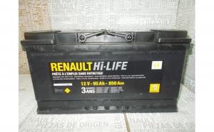 Baterie auto 95 Ah 850 A(EN) 12V Originala Renault 7711419086