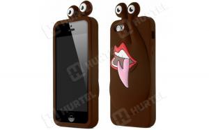 Husa Funny gel pentru iPhone SE 5S 5 brown