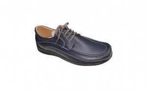 Pantofi cu lira din piele naturala romanesti bleumarin si negri