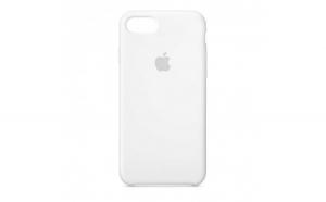 Husa iPhone 7 Plus   8 Plus Alb Carcasa Silicon Premium Slim Logo