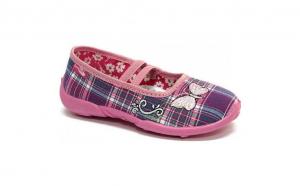 Pantofi pentru casa sau gradinita interior/exterior RenBut Fiolet Kratka