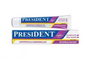 Pasta de dinti President antibacteriana cu Clorhexidina 0,2% 75 ml, la doar 12.99 RON