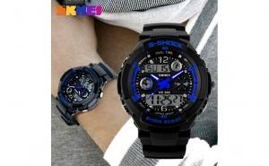 Ceas Skmei LED Albastru S - Shock, la doar 65 RON in loc de 150 RON