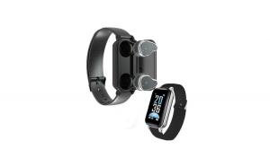 Bratara fitness cu casti wireless