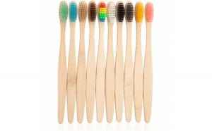 Set 10 periute de dinti din bambus  In