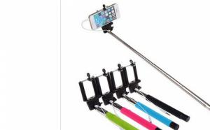 Selfie Stick mic si usor, conectare cu cablu 3,5 mm