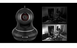 Camera Wifi 360 grade, cu difuzor si microfon incorporat, senzor de miscare si infrarosu