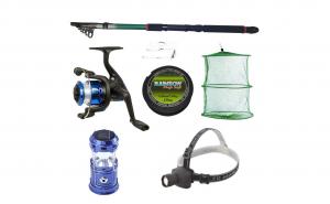 Set pescuit sportiv cu lanseta 2.4 m