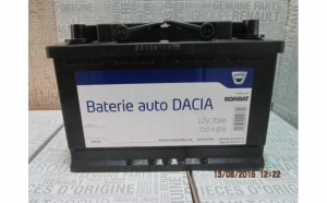Baterie auto 70 Ah 720 A(EN) 12V Originala Dacia 6001547711