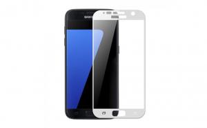 Folie sticla securizata Full Screen  Samsung Galaxy S7 ,Alb