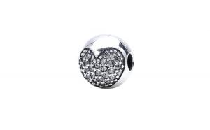 Charm argint 925 Crystal heart