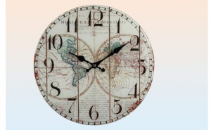 Ceas harta antica a lumii, la 49 RON in loc de 100 RON