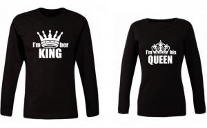"Set bluze cupluri ""I am king/Queen"""