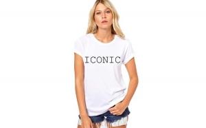 Tricou dama alb -  ICONIC