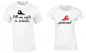 """Set de tricouri albe pentru cupluri """"Mi-am gasit Perechea"""""""